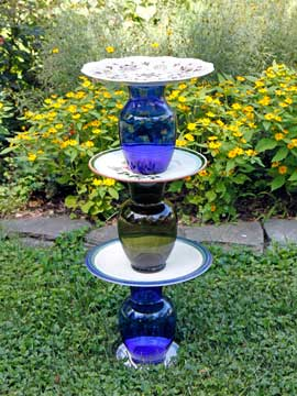 Finished birdbath