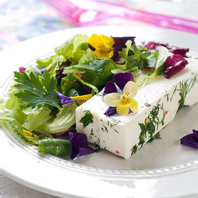 Pansies in a salad