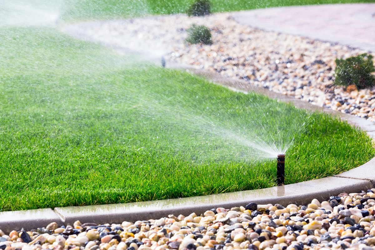 In-ground lawn sprinklers