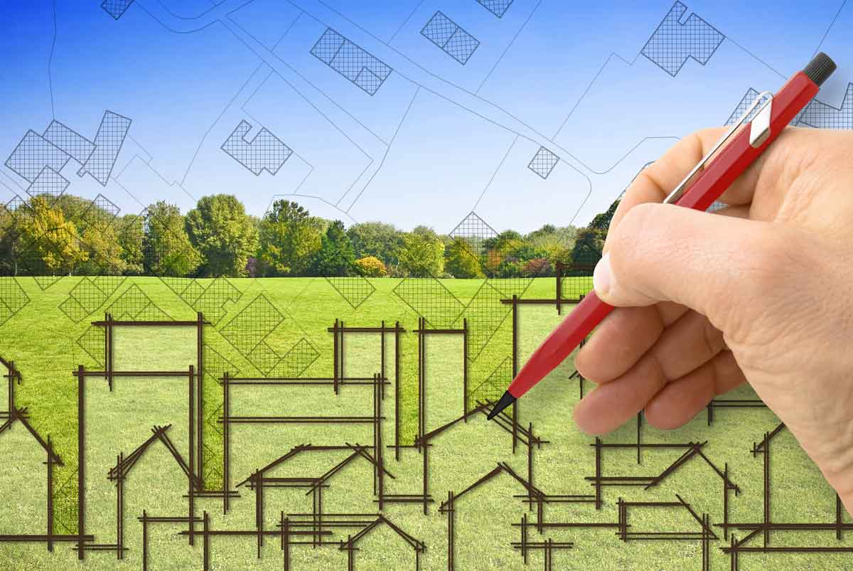 Measuring property for landscaping