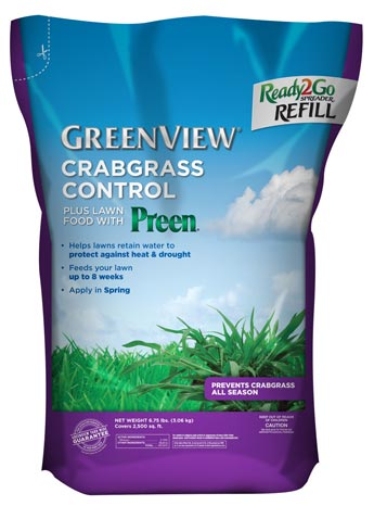 GreenView Crabgrass Control Plus Lawn Food with Preen® -  Ready2Go Spreader Refill Bag 21-29796