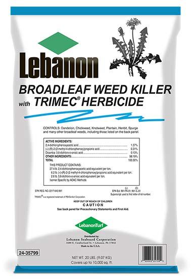broadleaf weed control with trimec